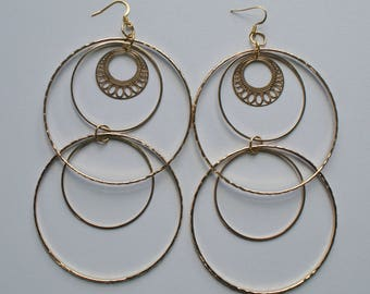 Gold Hoop Earrings Hoop Earrings Thin Hoop Earrings Jewelry Earrings Long Hoop Earrings Round Hoop Earrings Multi Hoop Earrings