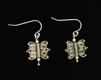sterling silver butterly earrings