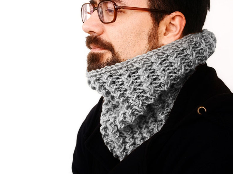 Knit Hooded Neck Warmer / Cowl Pattern / Children to Adult ...