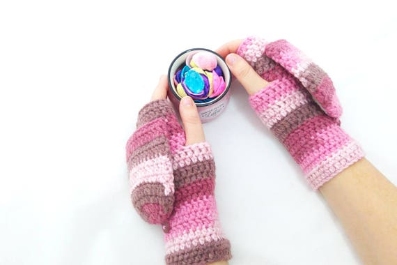 Crochet Pattern Pdf Fingerless Mitten With Flaps For All Etsy
