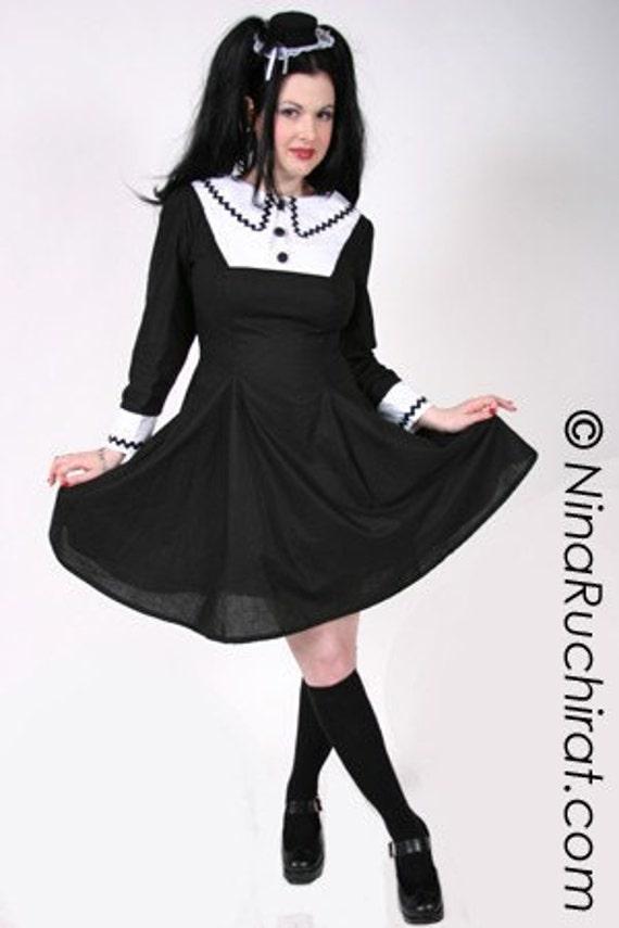 Aline Dress Wednesday Addams Gothic Lolita Dress Goth Loli Etsy