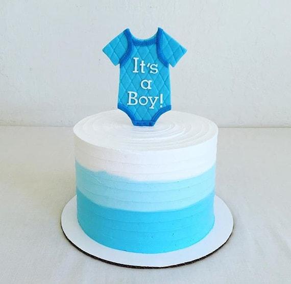 Its A Boy Fondant Onesie Cake Topper Onesie Cake Topper Etsy