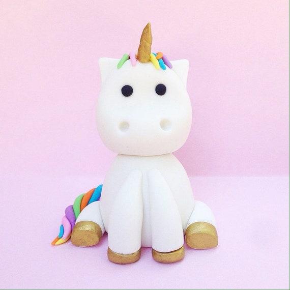Unicorn fondant cake topper - Unicorn Cake topper - Unicorn Party - Unicorn  - Unicorn topper - Unicorn Birthday - Unicorn Baby
