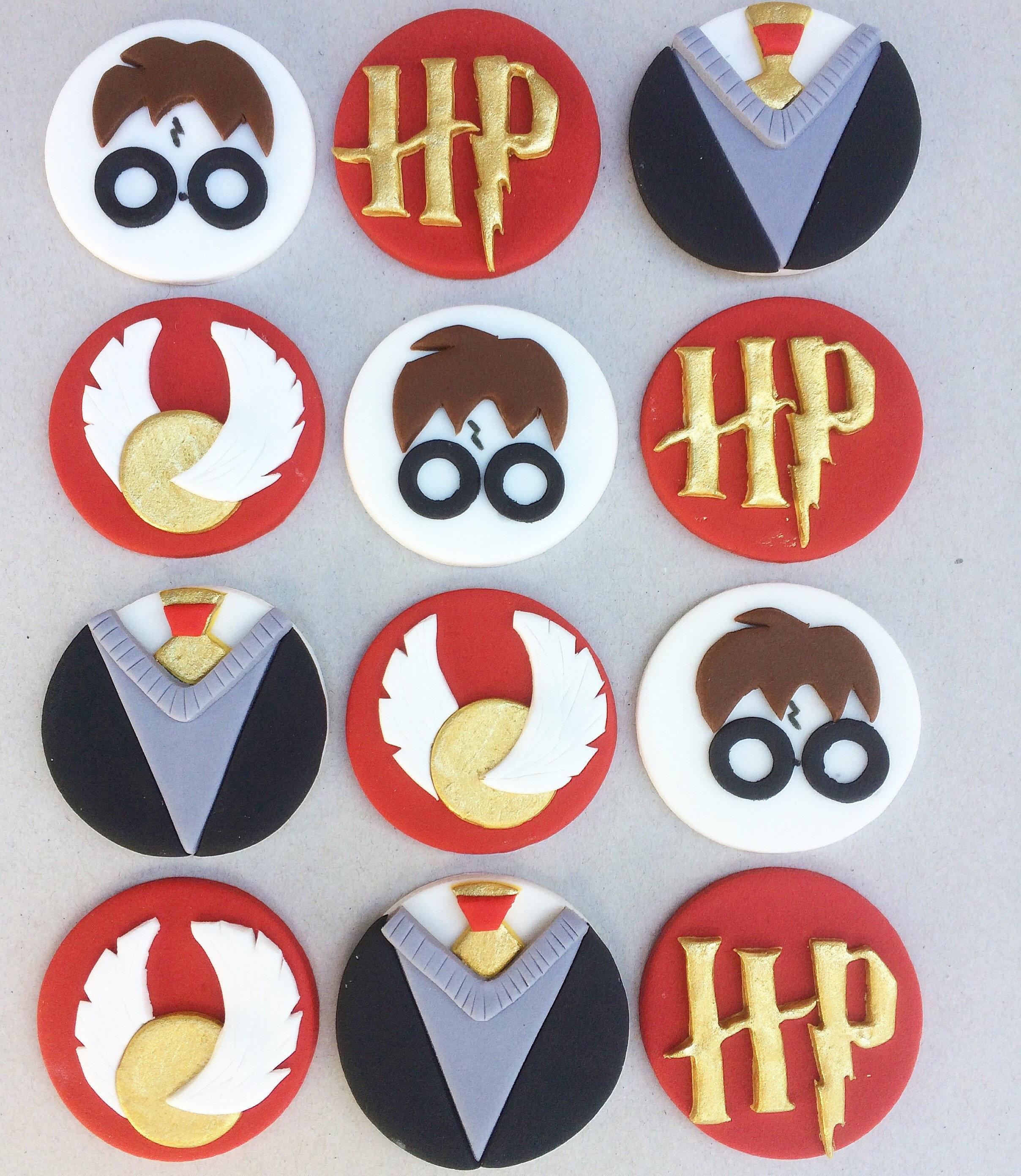 12 Harry Potter Fondant Cupcake Toppers Harry Potter
