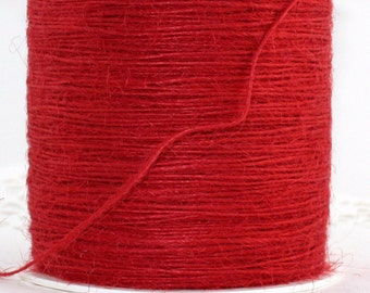 Red Twine String, Christmas Red Twine, Red String, Red Burlap Twine