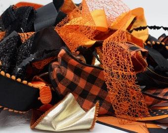Halloween Ribbon Scrap Bundle