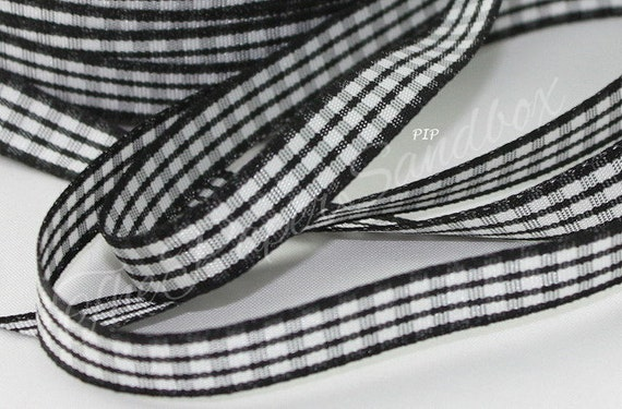 """3 Yards Gingham Ribbon 3//8/"""" wide"""