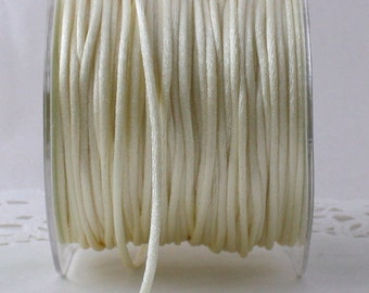 """Ivory Satin Jewelry Cord 1/8"""" wide BY THE YARD"""