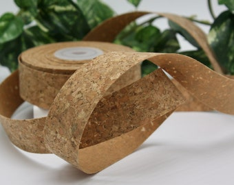 """Cork Ribbon 1"""" wide BY THE YARD"""