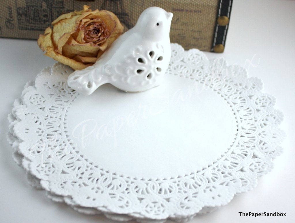 25 French Lace Paper Doilies, Invitations, Round Paper Doilies ...