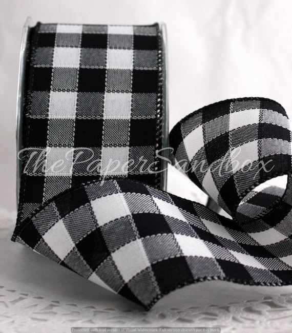 black and white buffalo plaid