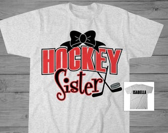 Hockey Sister Shirt   Girls Hockey Shirt   Hockey Sister Gift   Hockey Biggest Fan Shirt   Sports Sister Gift   Hockey Personalized Shirt
