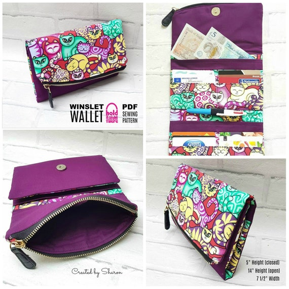 WINSLET WALLET PDF Sewing Pattern by Hold it Right There | Etsy