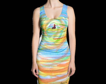 The Field print dress. Get 2 looks in 1!