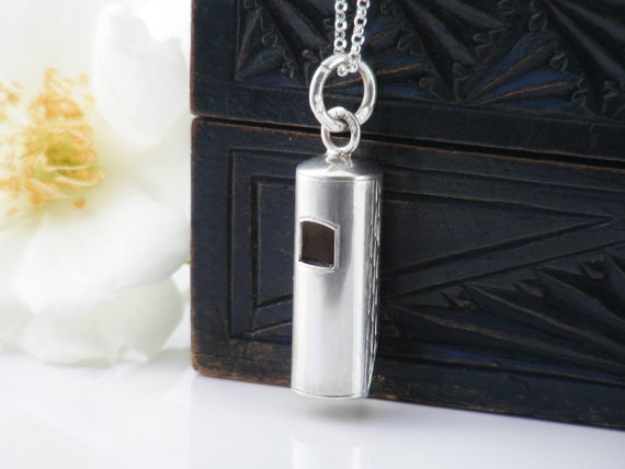 Vintage Whistle | Small Sterling Silver Working Whistle Pendant | 1975 Hallmark - 24 Inch Sterling Chain