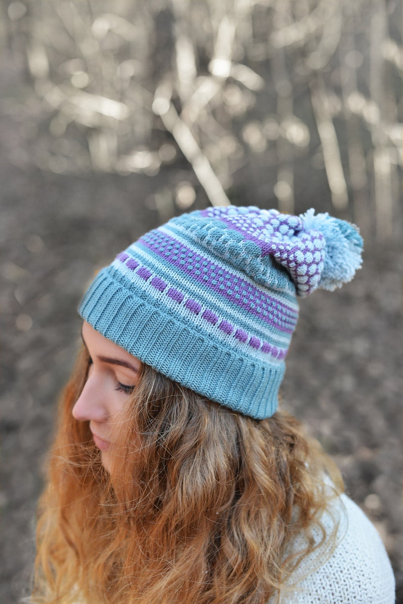 Slouchy Hat Winter Cap Merino Wool Set of Hat and Fingerless,Gift for Her Valentines Gift Colorful Beanie Knitted Beanie and Fingerless