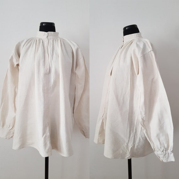 1930s Hungarian white linen shirt Traditional Dres
