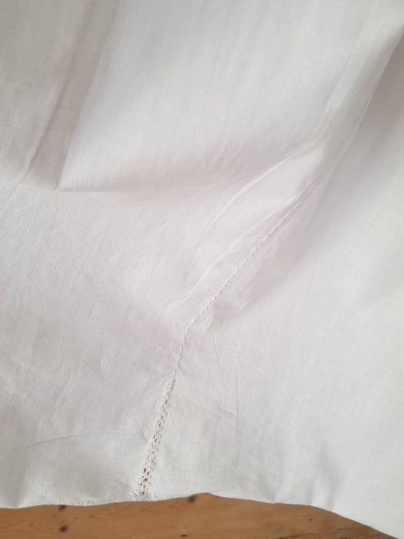 1930s Slovakian White Cotton Folk Dress Eastern E… - image 6