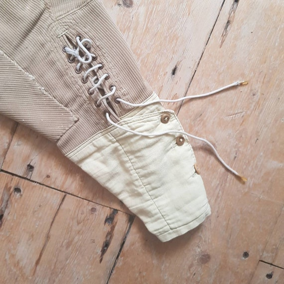 1940s French Workwear Breeches Chore Pants Button… - image 4