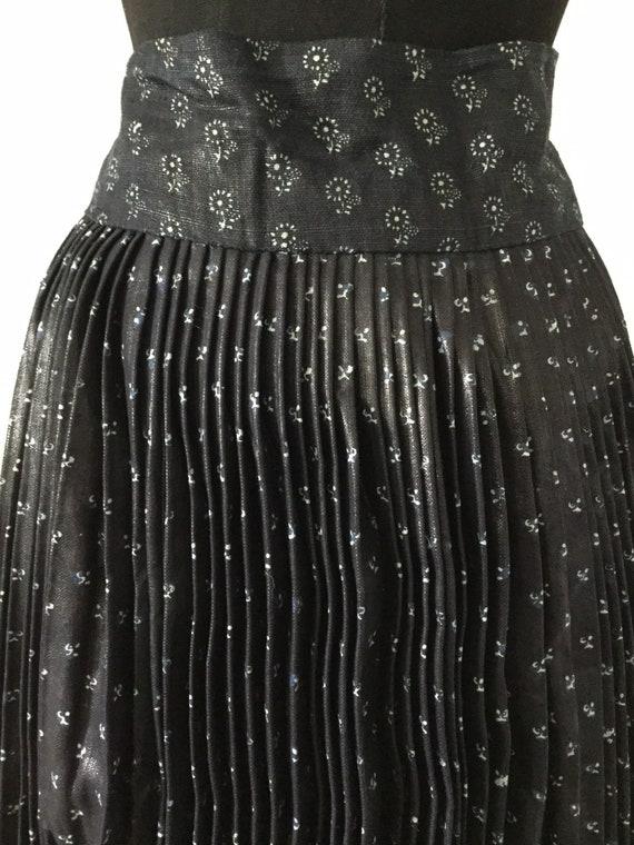 Slovakian Indigo Skirt Block Print Folk Eastern European Fabric