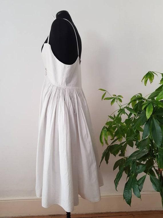 1930s Slovakian White Cotton Folk Dress Eastern E… - image 8