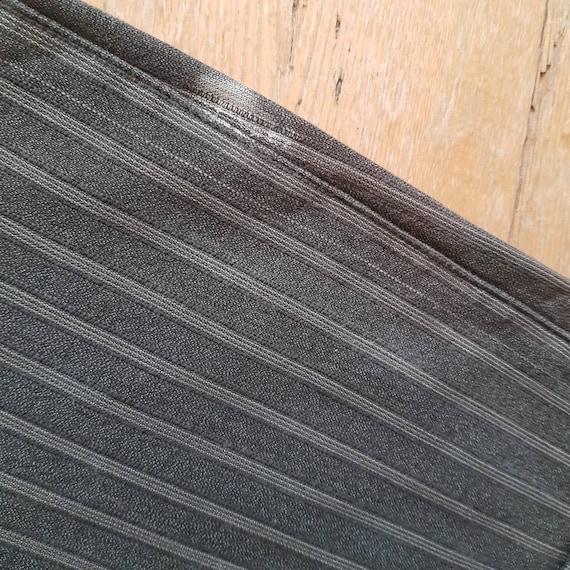 1940s French Salt Pepper Grey Stripe Workwear Tro… - image 7