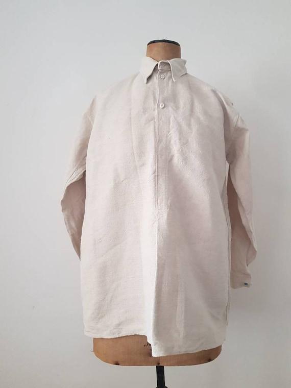 Hungarian Linen Shirt Folk Peasant Minimalist Butt