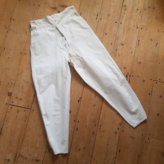 1930s French White Cotton Underwear Trousers Pants