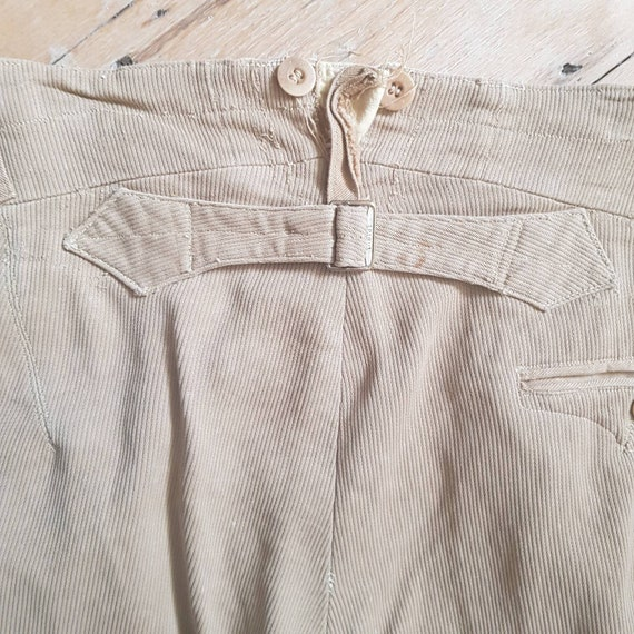 1940s French Workwear Breeches Chore Pants Button… - image 3