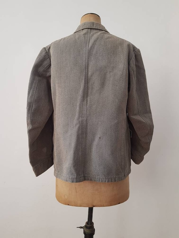 1930s French Hunting Jacket Animal Buttons Revere… - image 6