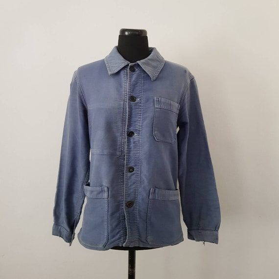 French Blue Molskin Workwear Jacket Chore