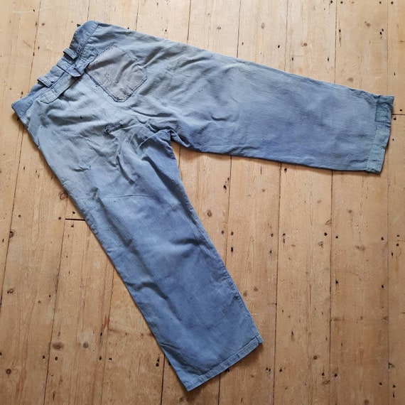 1940s French Blue Workwear Trousers Chore Pants P… - image 5