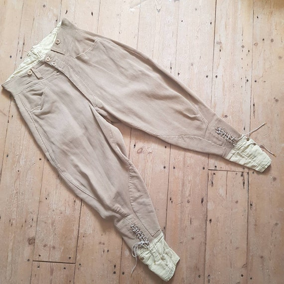 1940s French Workwear Breeches Chore Pants Button… - image 1