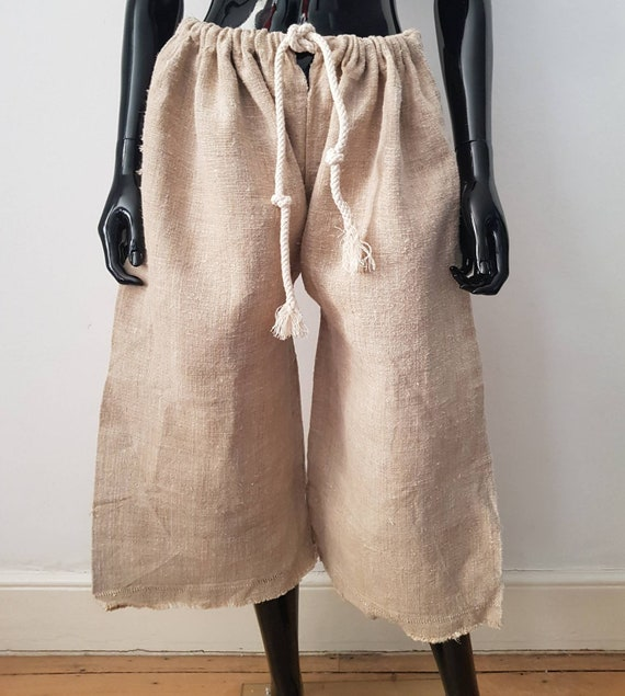 1930s Hungarian Hemp Shepherd Trousers Wide Leg Dr