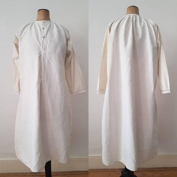 Hungarian Antique Linen smock Dress Monogrammed E.