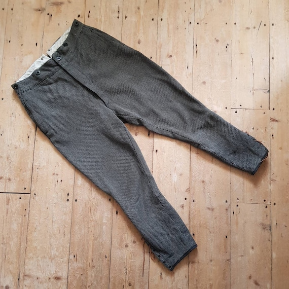 1930s French Breeches Woven Workwear Trousers Pant