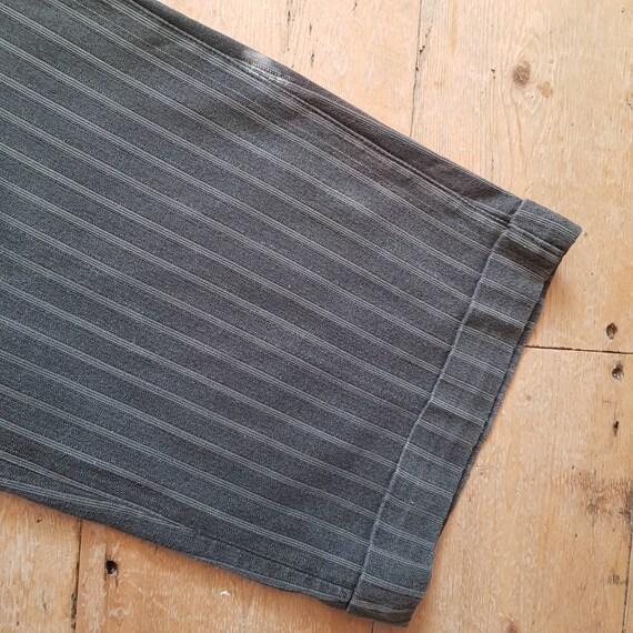 1940s French Salt Pepper Grey Stripe Workwear Tro… - image 3