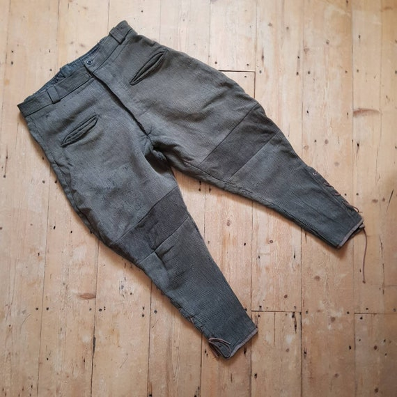 1930s French Breeches Pants Trousers Workwear Brow