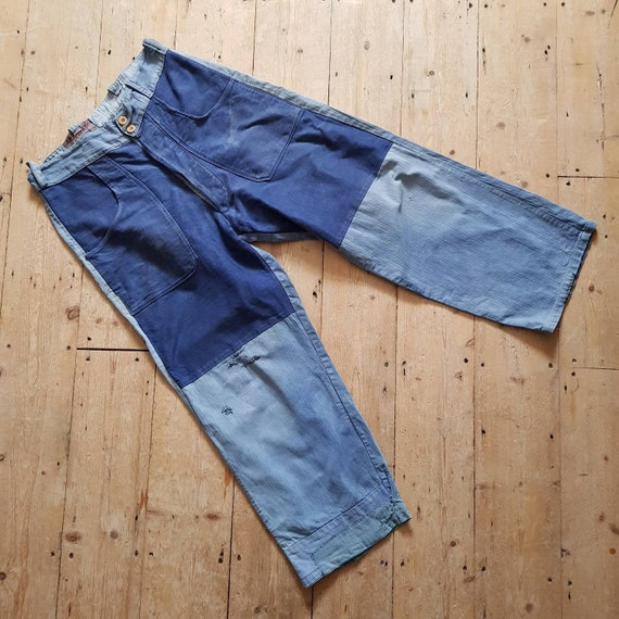 1940s French Blue Workwear Trousers Chore Pants P… - image 4