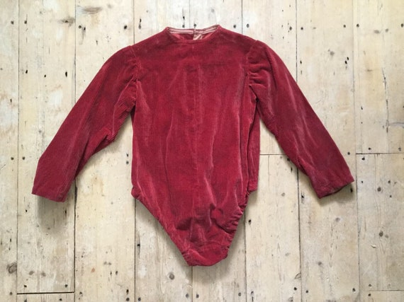 1920s -1930s French Theatre Costume Red Corduroy L