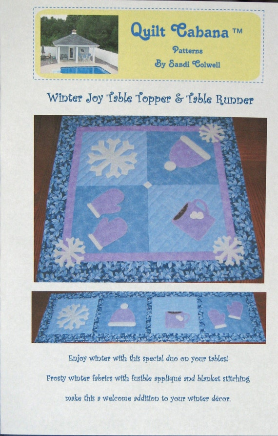 Cabana Quilted Table Runner Pattern