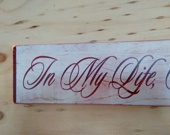 """THE BEATLES /""""HEY JUDE/"""" LYRICS POSTER PLAQUE*SHABBY CHIC*VINTAGE*WOODEN SIGN"""