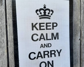 na Keep Calm and Carry On Mini-signe métal//carte postale 150 mm x 105 mm