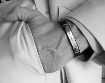 Custom Mens Bracelet Anniversary Gift for Men Groom Groomsmen Gift Personalized Mens Bracelet Mens Bracelet Mens Birthday grooms gift Father