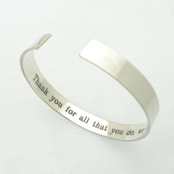 Manner silber armband mit gravur