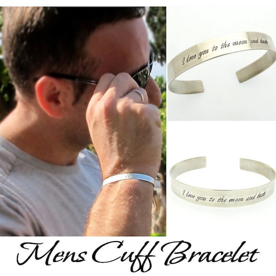 Personalized Name Bangle Bracelet Cuff Sterling Silver Sterling Silver Custom Made with Any Names Words for Women Men
