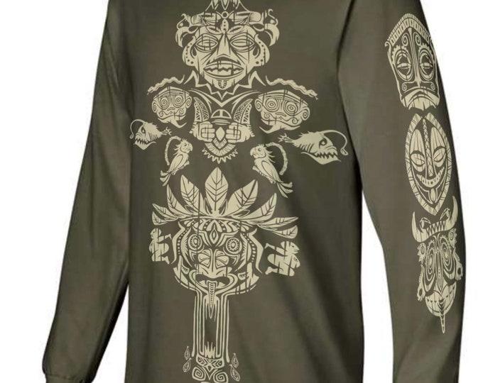 Enchanted Tiki Mash-Up Long Sleeve TShirts