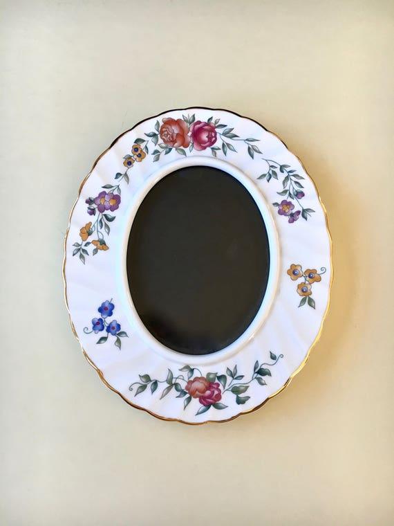Vintage Wedgwood Oval Floral Frame Wedgwood Picture Frame Etsy