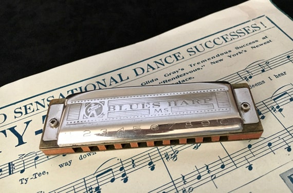 Vintage Hohner Harmonica Blues Harp German MS Hohner Blues Harp Harmonica