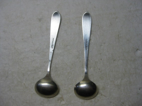 1 Vintage Salt Spoon Sterling Silver  Gorham Gold Wash Bowl